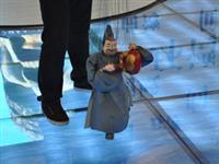 泉州馆内的提线木偶表演