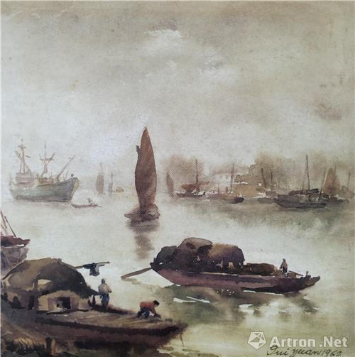 梁桂元水彩画