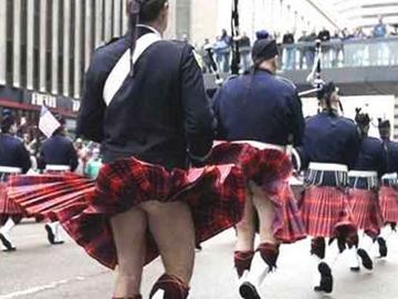 苏格兰裙无内裤是典故?